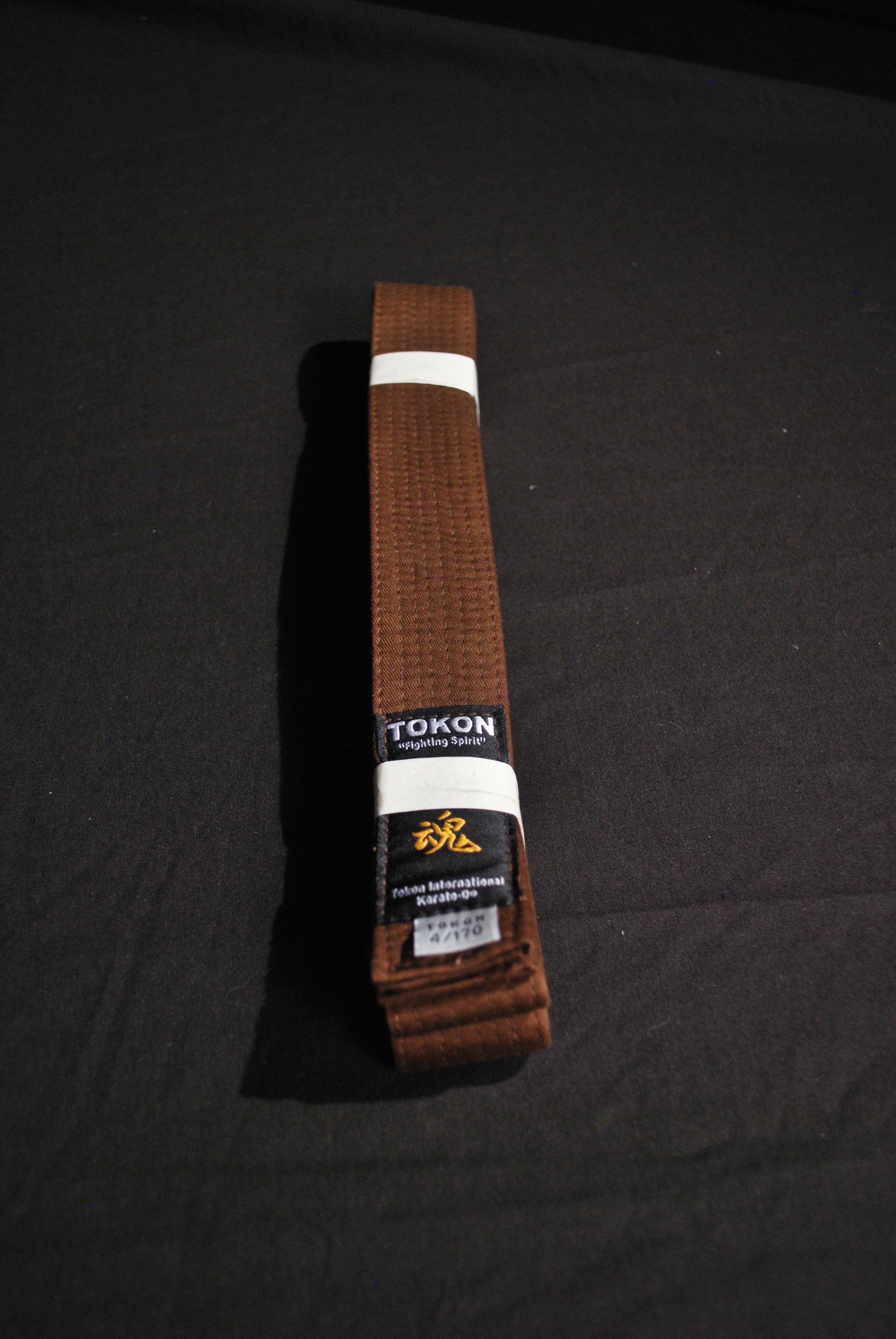 t 244 kon brown belt tokon martial arts supplies