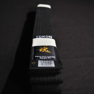 Tokon Martial Arts Supply Cotton Black Belt 1