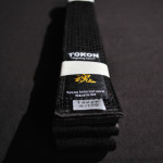 Tokon Karate Satin Black Belt 3