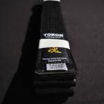 Tokon Karate Satin Black Belt 3